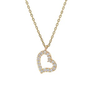Yellow Gold 9kt Necklace with Cubic Zirconia