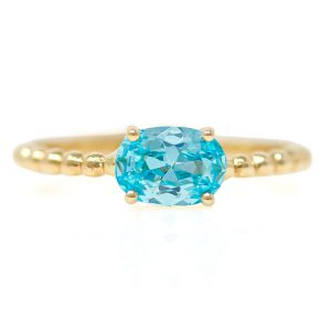 Yellow Gold 9kt Ring with Synthetic Topaz