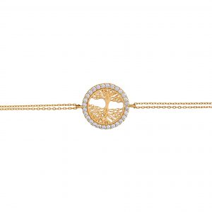 Yellow Gold 9kt Bracelet with Cubic Zirconia