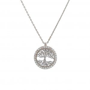White Gold 9kt Necklace with Cubic Zirconia