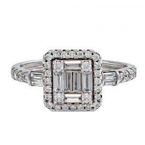 White Gold 9kt Ring with Cubic Zirconia