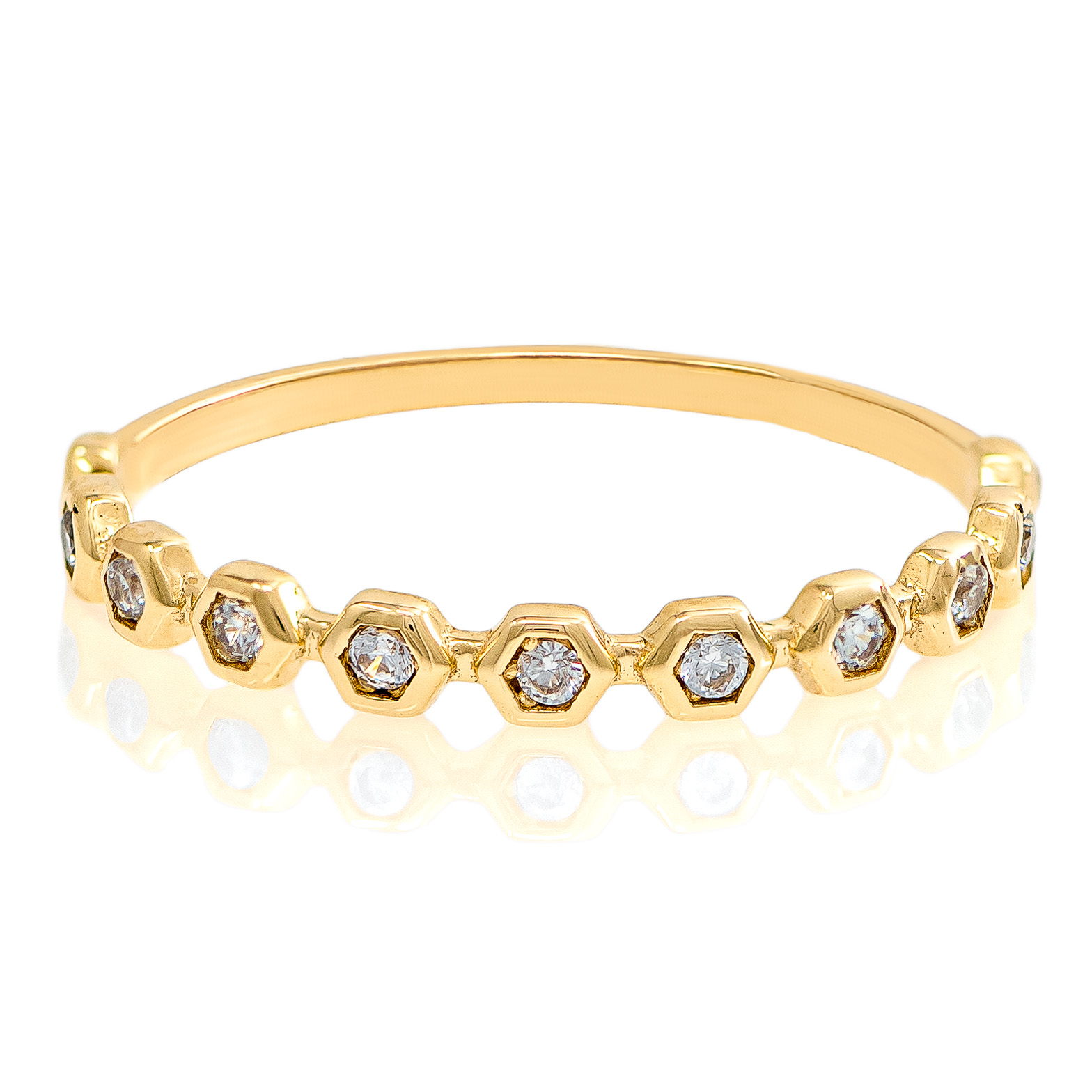 Yellow Gold 9kt Ring with Cubic Zirconia