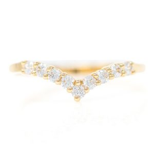 Ring in Yellow Gold 9kt with White Zirconia