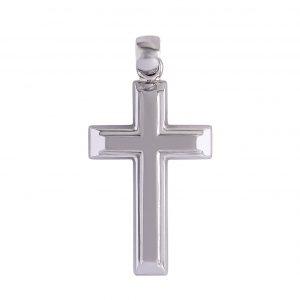 Cross in 9kt White Gold