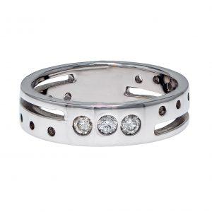 Baraka Unisex White Gold Diamond Ring