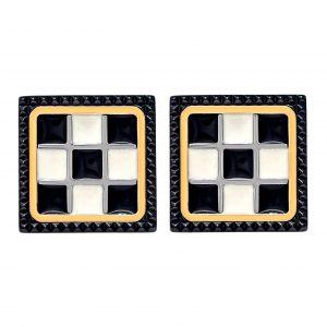 Baraka Grand Prix Cufflinks in Yellow Gold & Black Ceramic