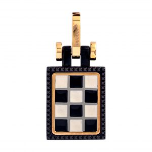 Baraka Grand Prix Pendant in Yellow Gold & Black Ceramic