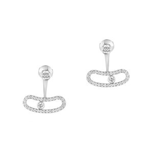 Messika Move Uno 18kt White Gold Diamond Earrings
