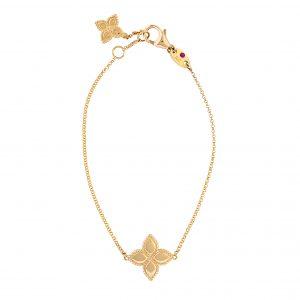 Roberto Coin Princess Flower Yellow Gold Bracelet