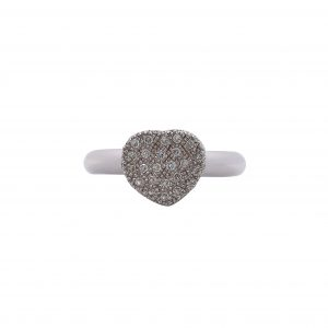Ring White Gold 18kt with Diamonds