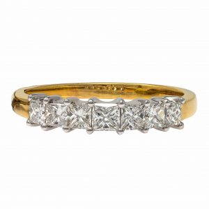 Yellow and White Gold 18kt Ring with Diamonds
